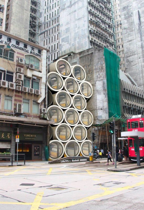 Micro apartments in concrete pipes   James Law Studio